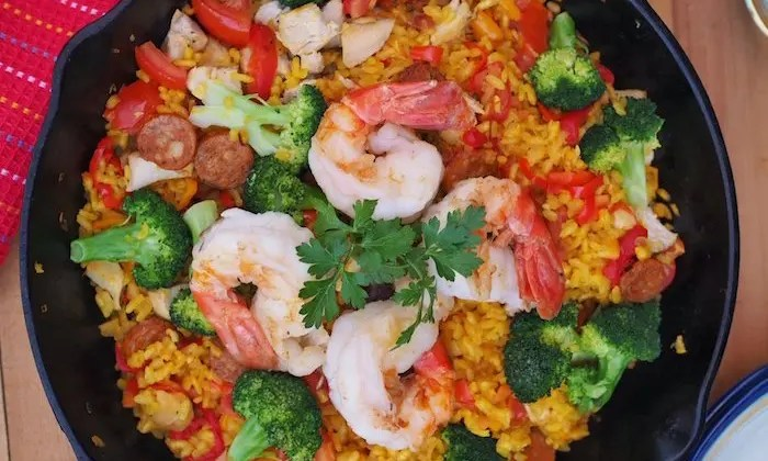 Everything But The Kitchen Sink Paella Recipe by Tapa Toro Orlando and GoEpicurista.com