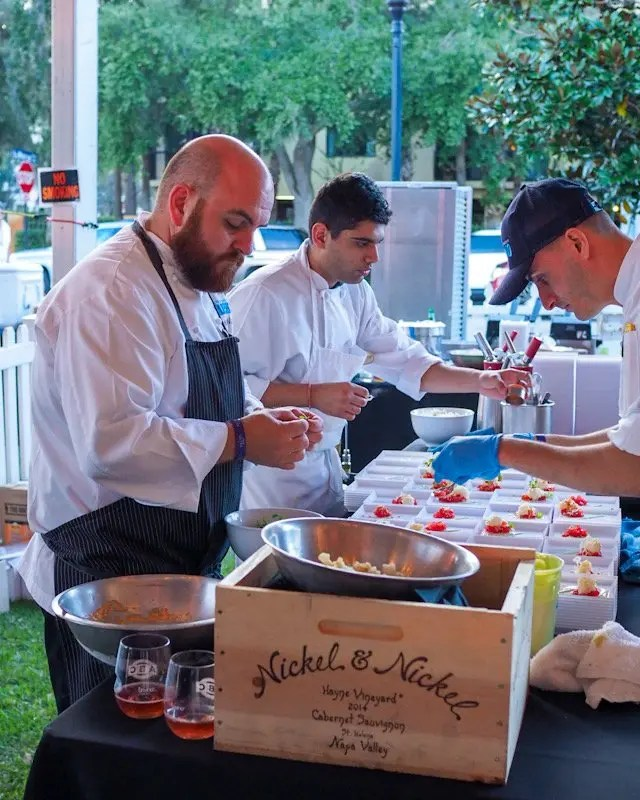 Photo recap why every Foodie Loves Cows N Cabs Event in Orlando. Including Todd English BluZoo chefs.