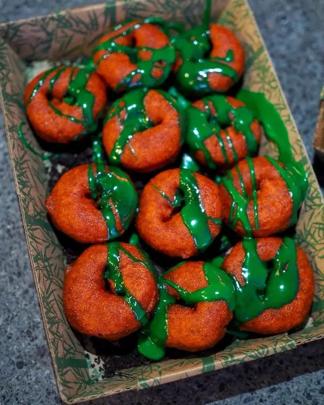 Merrill's Mini Pumpkin Doughnuts are part of the Best of Universal Orlando Halloween Horror Nights 2019 including Must Eat, Must Drink, Must See and Must Do recommendations, plus the one thing you Must Not Do! by GoEpicurista.com