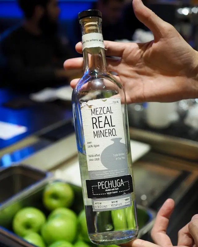 Mezcal Real Minero Pechuga from Frontera Cocina at Disney Springs Taste of Oaxaca Seasonal Menu and Fun Random Facts about Mole including How To Make an Easy Mole from Chef Rick Bayless