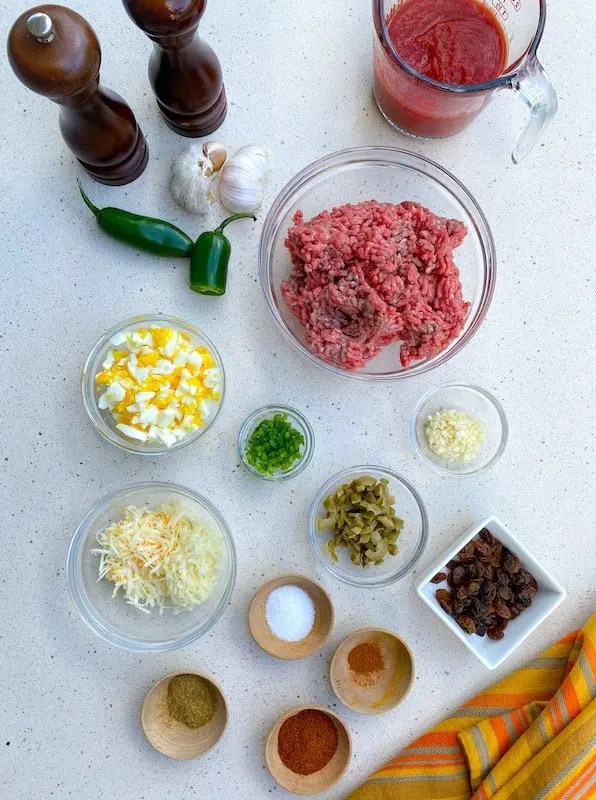 Ingredients for Easy Beef Empanada Recipe from Cafe Tu Tu Tango using pantry staples for a fun Spanish Night at Home