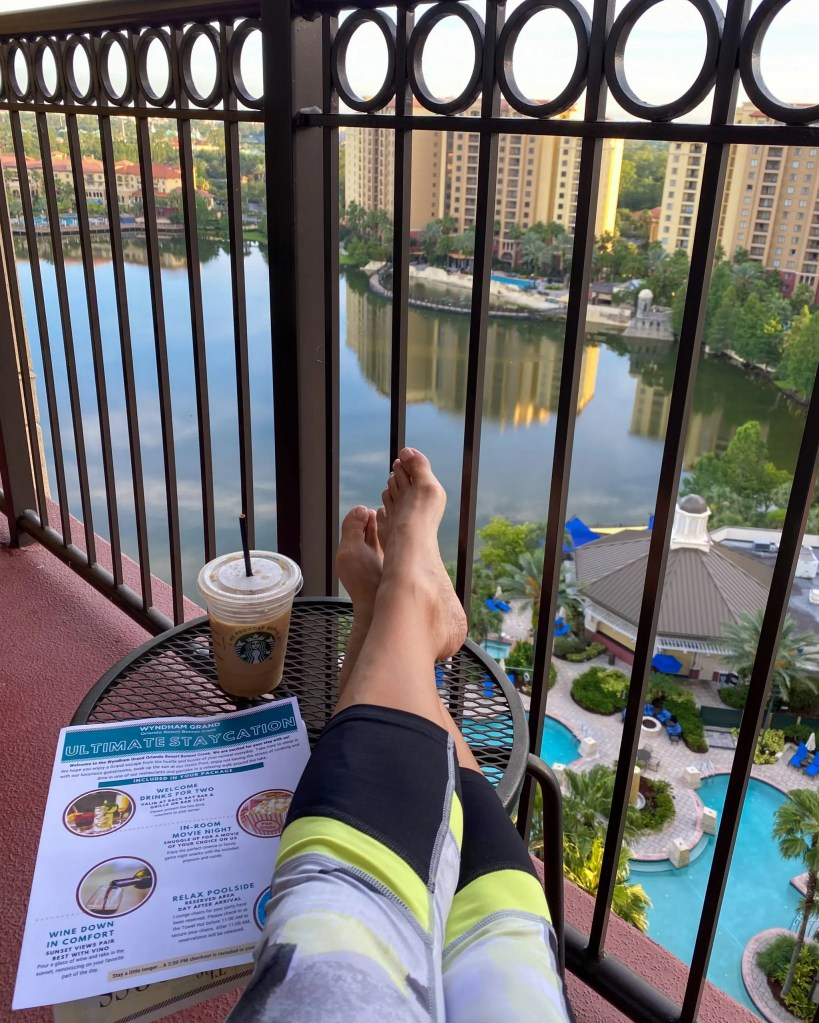 The Food and the view. 29 Socially Distanced Fun Things To Do on Vacation at Wyndham Grand Orlando Resort Bonnet Creek