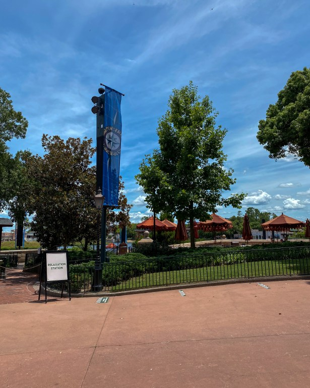 Taste of Epcot Food and Wine Festival guide relaxation zone