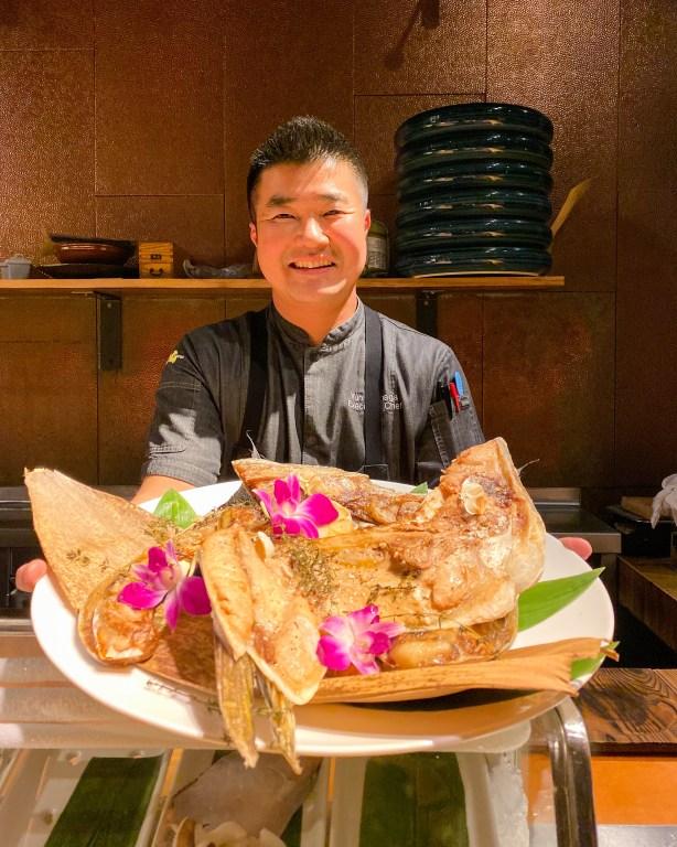 Executive Chef Yuhi Fujinaga of Morimoto Asia at Disney Springs during Momokase omakase dinner
