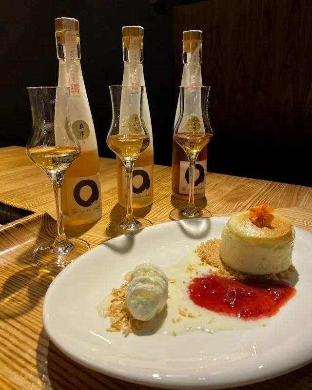 Dessert course for Momokase omakase dinner at Morimoto Asia in Disney Springs