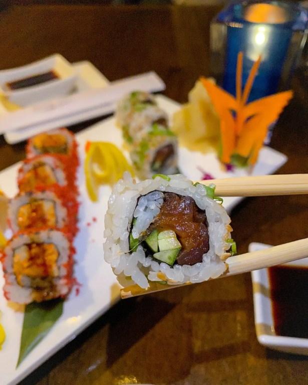 Best Orlando Resorts for epic foodie getaways includes Wyndham Grand Orlando Resort at Bonnet Creek. Sushi at Bar 1521 is a fun add on.
