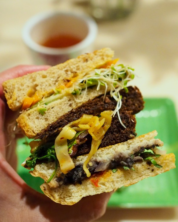 Pom Pom's Teahouse vegan sandwiches