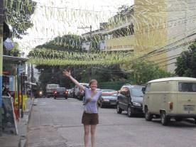 Allison in streets of Rio de Janeiro