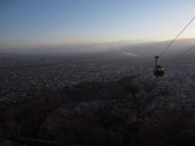 Gondola to top of San Bernardo Hill in Salta, Argentina