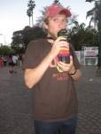 Isaiah in main plaza of Salta, Argentina