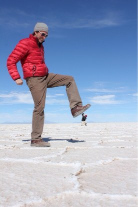 Isaiah Crushing Marvin at Uyuni Salt Flats