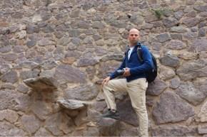 Marvin in Ollantaytambo, Peru in Sacred Valley
