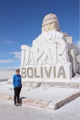 Dakar: Bolivia salt monument