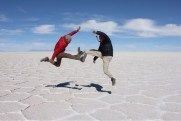 Marvin & Isaiah Fighting at Uyuni Salt Flats