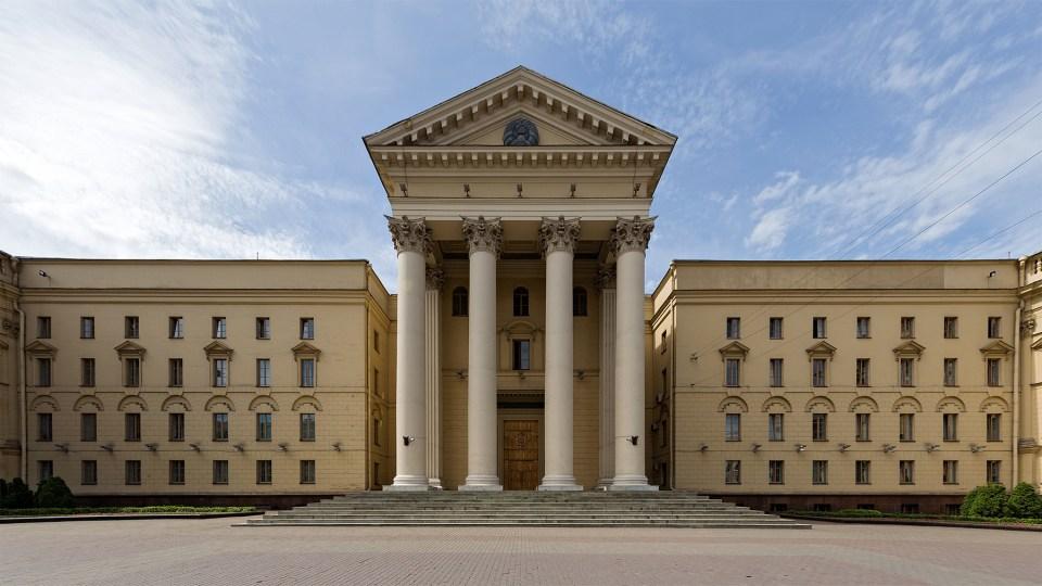 Hauptgebäude des Komitees für Staatssicherheit der Republik Belarus in Minsk