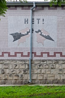 sowjetisches Wandmosaik in Kischinau