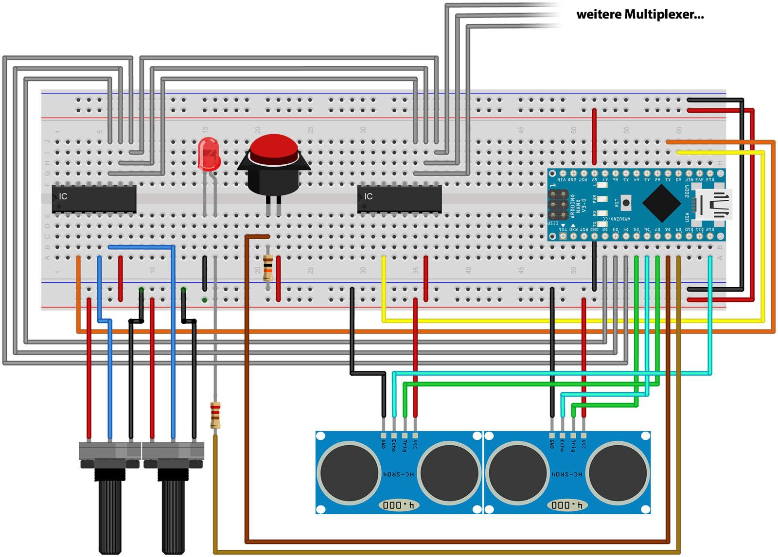 schaltplan und arduino sketch f r selbstgebauten midi. Black Bedroom Furniture Sets. Home Design Ideas