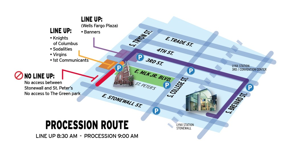Eucharistic Procession route 2021