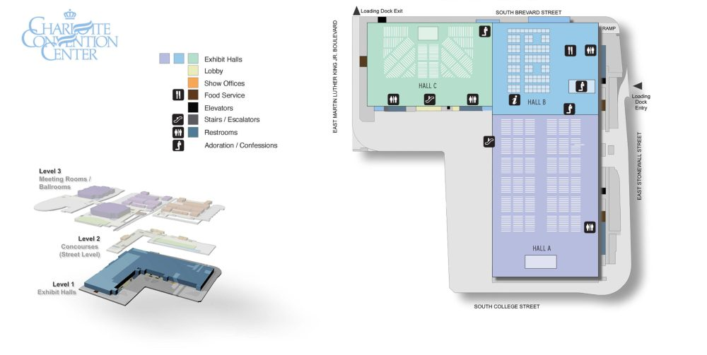 Convention Center floor plan - Exhibit Hall level