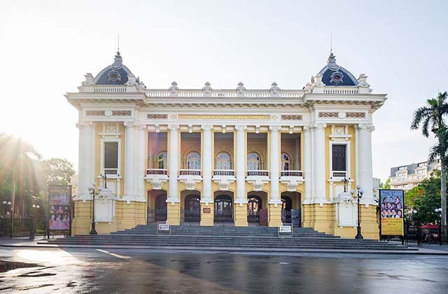 The Hanoi Opera House, or the Grand Opera House is an opera house in central Hanoi, Vietnam. It was erected by the French colonial administration between 1901 and 1911. (Hanoi Attractions)