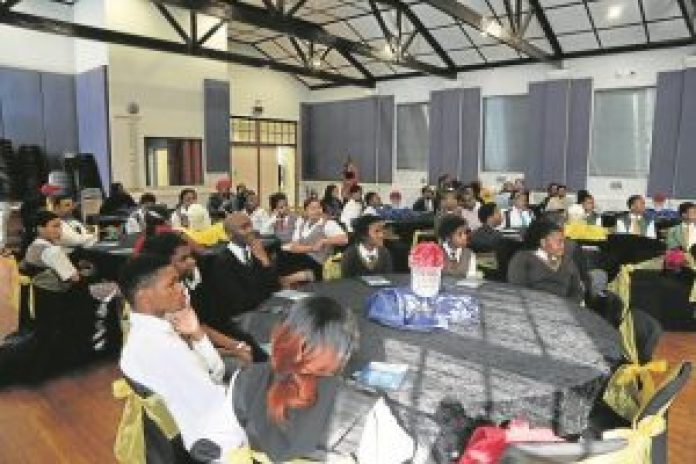 MILESTONE LAUNCH: The University ofFort Harerecently launched their first online application system. Pupils from various high schools in Buffalo City were present to witness the event Picture: QHAMANI LINGANI