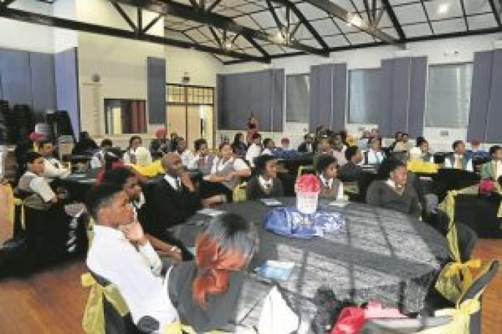MILESTONE LAUNCH: The University of Fort Hare recently launched their first online application system. Pupils from various high schools in Buffalo City were present to witness the event Picture: QHAMANI LINGANI