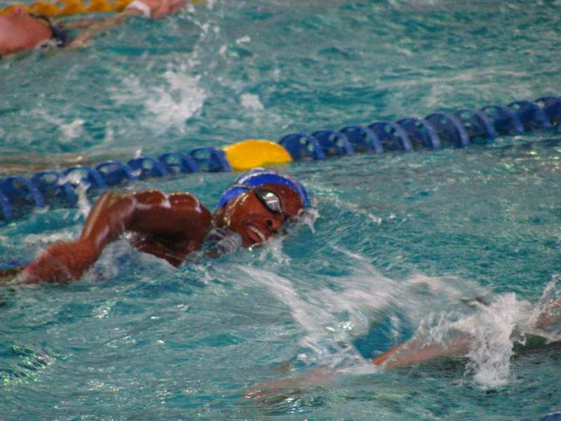 GOING SWIMMINGLY: East London teenagers Lesley Blignaut and Bathandwa Dyantyi are looking forward to gaining valuable experience when they join the South African Olympic swimming team at their training camp for the Rio Olympics, in Italy next week Picture: SUPPLIED