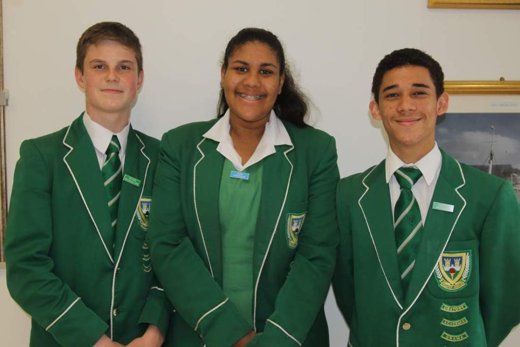 TOP ACHIEVEMENT: Three Grade 9 pupils from  Stirling  High School secured the top positions in the Eastern Cape at the National Junior  Accounting   Olympiad  held recently. The pupils are, from left, Peter McCausland (joint first place in the Eastern Cape), Jada Freeman (third in the Eastern Cape) and Haydon Anderson (joint first runner-up in the Eastern Cape) Picture: SARAH KINGON