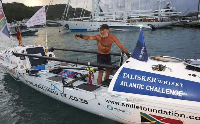 OCEAN WARRIOR: After two successful solo Atlantic crossings in 2014 and last year,  Stuart   Connacher  will again take on the Talisker Whisky Atlantic Challenge with an all-South African team this year. They will use the same boat he used last yearPicture: SUPPLIED