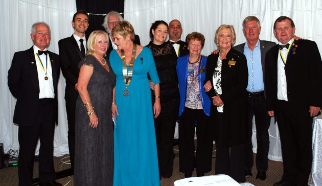 Pam Way (centre) was recently inducted as president of the Rotary Club of East London. She is seen here with her board of directors for her term of office Picture: SUPPLIED