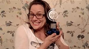 Cady Huffman with her Tony Award