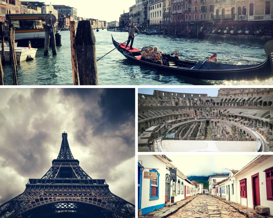 the-expedition - holiday destinations such as Venice, the Eiffel Tower and the Colesseum in Rome