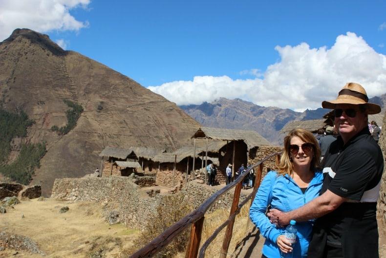 Inca Ruins at Pisac, near Machu PIcchu.