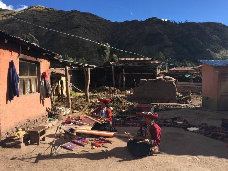 A beautiful day visiting Umasbamba Village near Machu Picchu.