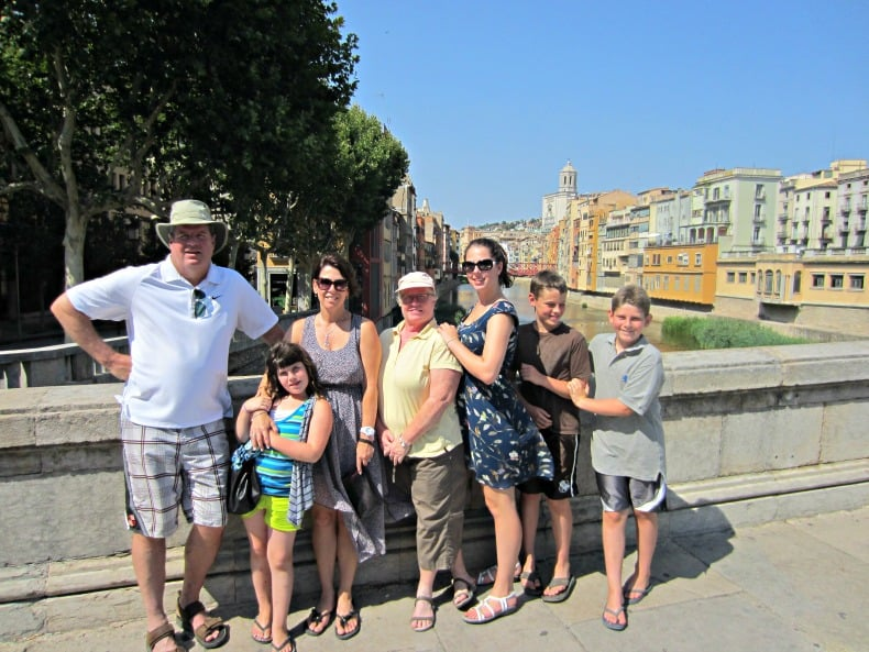 A Walking tour of Girona, Spain is a great way to engage a family with children of all ages