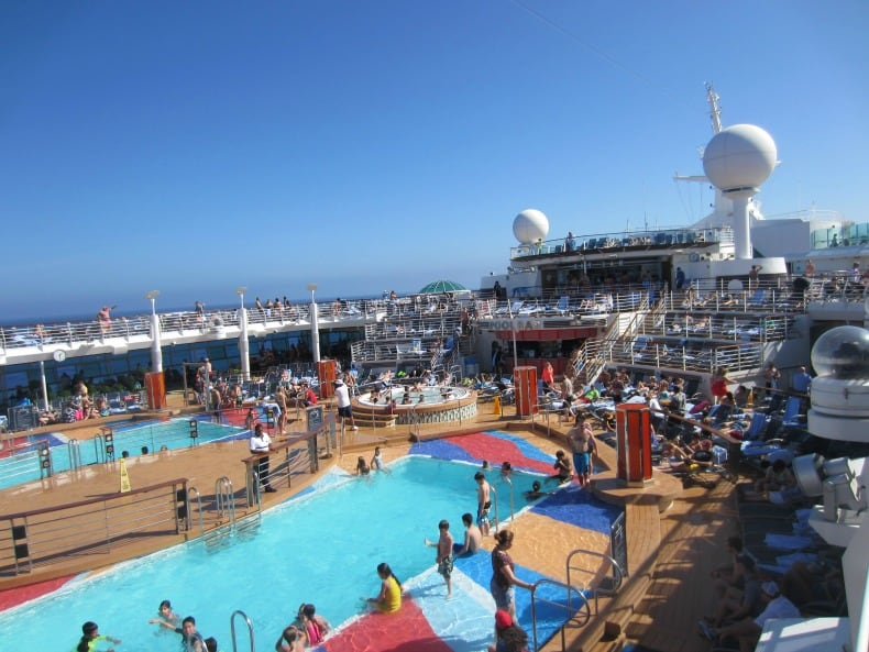 Pool area on the Royal Caribbean Liberty of the Seas - cruise holidays