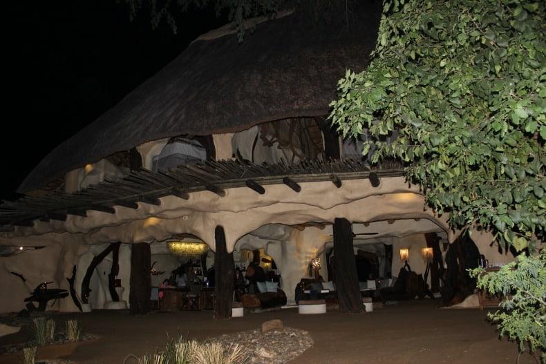 Chongwe River House at night