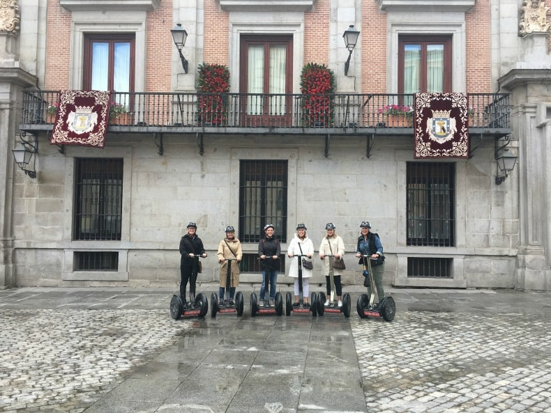 In front of City Hall on our Segway tour with Madrid Segway in Madrid