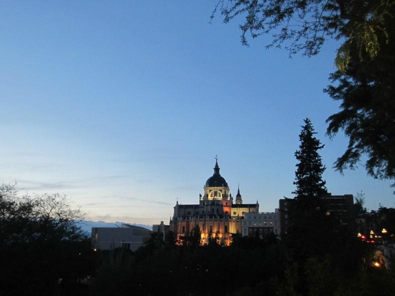 Madrid at night.