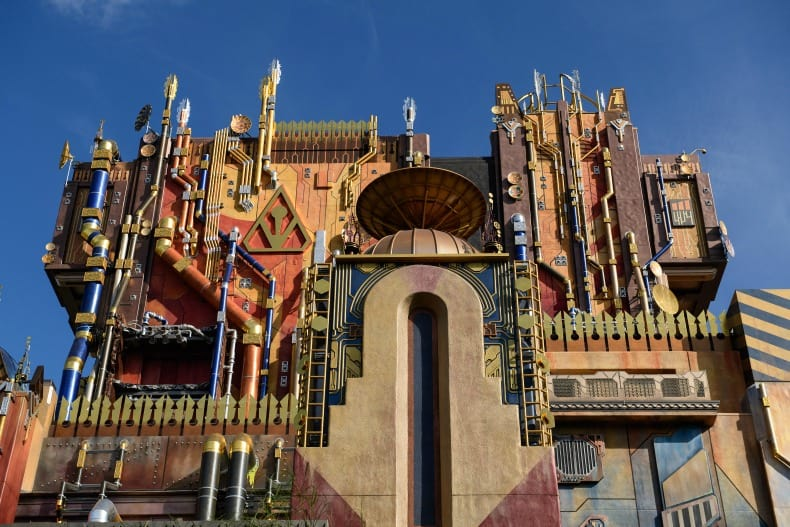 Guardians of the Galaxy is a ride at Disney California Adventure, an amusement park.