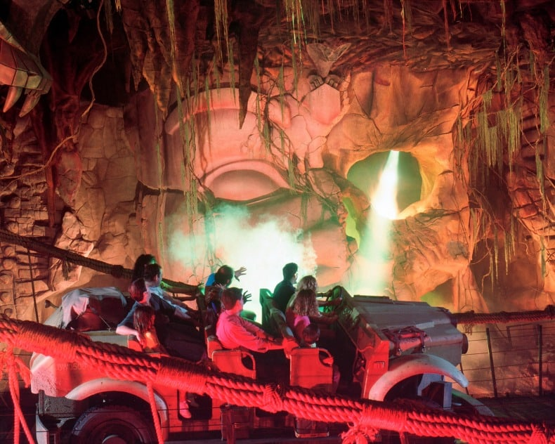 Indian Jones Adventure Ride, an exciting ride at Disneyland, an amusement park