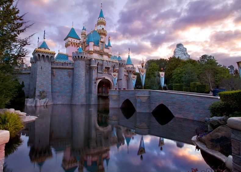 Sleeping Beauty's Castle at Disneyland, an amusement park