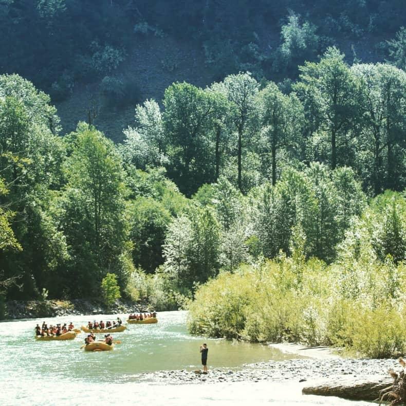 White water rafting during Whistler summer
