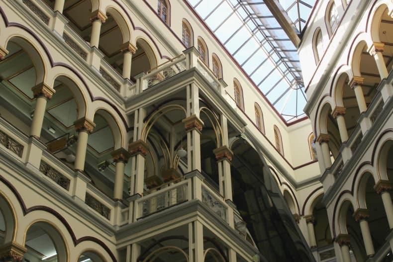 Visiting Palacio Nacional in Medellin on our Colombia holidays