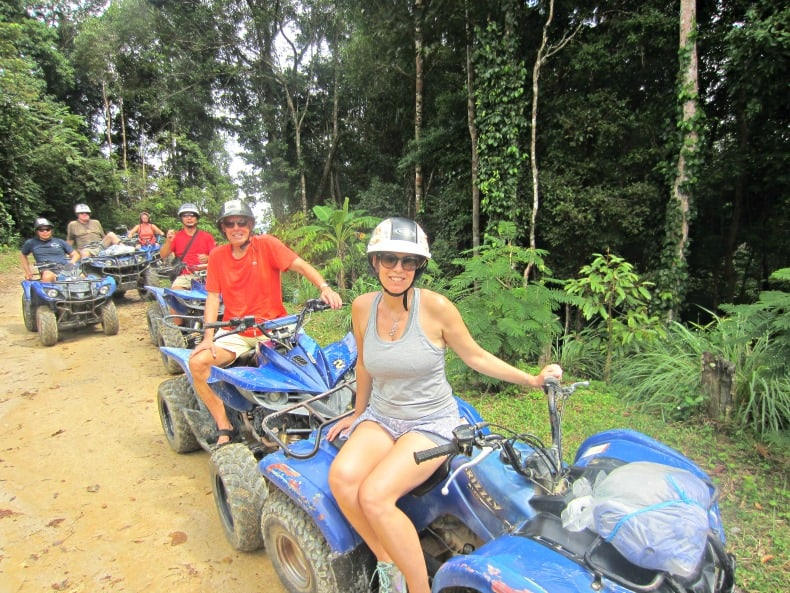 Our ATV tour in the jungles and hills of Koh Samui. on our Thailand Holiday
