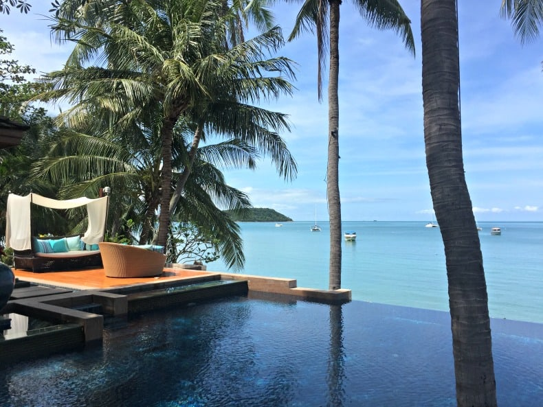 Hanging out by the pool at Uniya Duniya on our Thailand Holiday