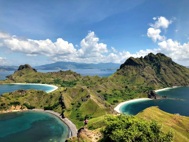 Padar Island near Komodo dragons