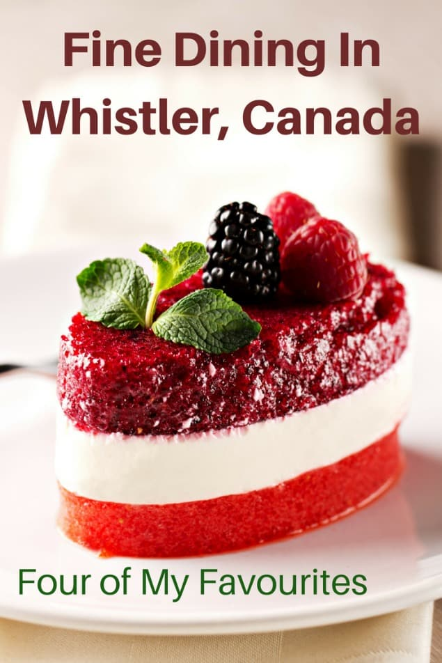 Whistler is filled with amazing restaurants for all sorts of tastes and budget. If you love fine dining and you have a bit of wiggle room on your budget, then Whistler has phenomenal choices. Here are my four favourite Whistler fine dining options. #travel #familytravel #foodie #Whistler #BritishColumbia #Canada |Araxi, Asian, dessert, Four Seasons, French, Il Caminetto, Italian, menu, oyster, promotions, reservations, Rim Rock, risotto, Sidecut, sides, West Coast, fine dining|
