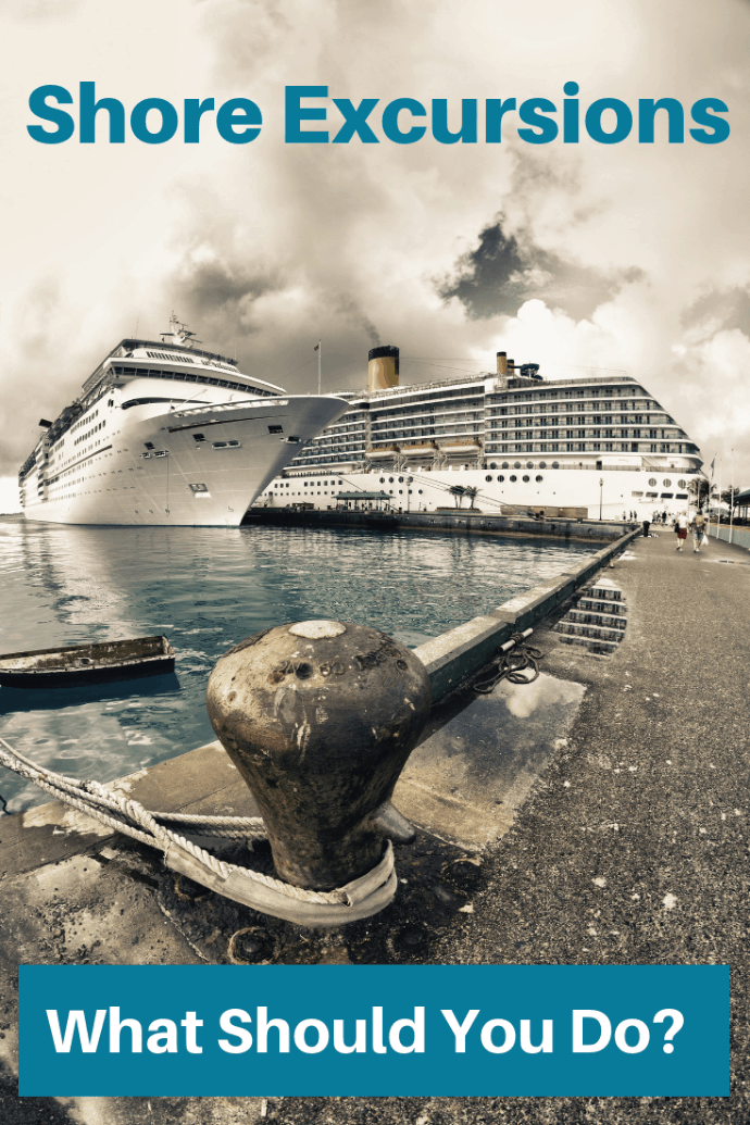 When you reach ports on your cruise, you have five choices about how you are going to spend your time. Will you take cruise sponsored shore excursions, book your own shore excursions, or something else? Which fits you and your family the best? #travel #familytravel #cruising   caribbean, cruise ships, cruise sponsored, cruises, Europe, local tour operator, port, tours 