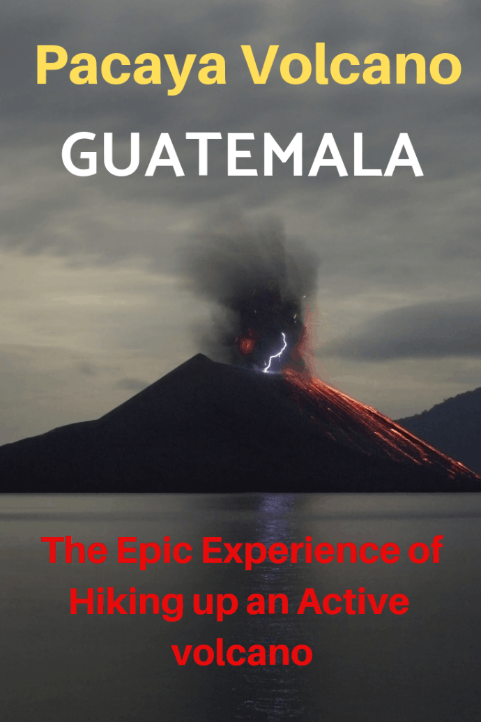 Our family hiked up Pacaya volcano in Guatemala and it was a fantastic experience. The hike was hard in parts, but the panoramic views from the top were worth every step we took. Pacaya Volcano is an active volcano and it was thrilling to be so close to the smoking crater and the hot lava below. Here are some tips and tricks to make your hike the best. #travel #familytravel #Guatemala #Antigua #Pacaya #active #fuegovolcano